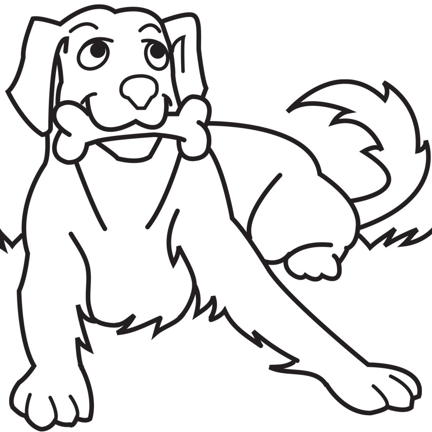 black dog coloring pages - photo#25